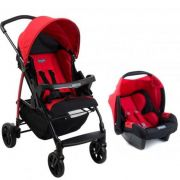 Carrinho Ecco Red com Bebê Conforto Touring Evolution Se - Burigotto