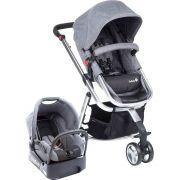 Carrinho Mobi com Bebê Conforto Grey Denim - Safety 1st