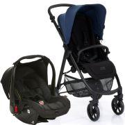 Carrinho Okini Azur (Azul) com Bebê Conforto Risus Piano - ABC Design