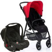 Carrinho Okini Berry (Vermelho) com Bebê Conforto Risus Piano - ABC Design
