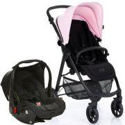 Carrinho Okini Rose (Rosa) com Bebê Conforto Risus Piano - ABC Design