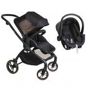 Carrinho Reversível Rovy Preto + Bebê Conforto - Dzieco