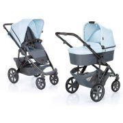 Carrinho Salsa 4 com Moisés e Bebê Conforto Ice (Azul) - ABC Design