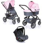 Carrinho Salsa 4 com Moisés e Bebê Conforto Rose (Rosa) - ABC Design