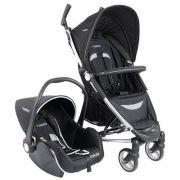Carrinho Travel System Helios Preto + Bebê Conforto Casulo Click - Kiddo