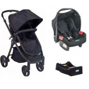 Carrinho Travel System Soul com Bebê conforto Preto + Base - Burigotto