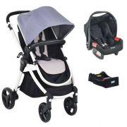 Carrinho Travel System Soul Grey com Bebê conforto + Base - Burigotto