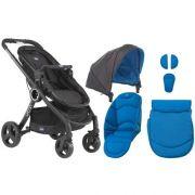 Carrinho Urban Plus + Bebê Conforto KeyFit + Kit Color Azul - Chicco