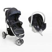Carro de Bebê 3 Rodas + Bebê Conforto Apollo Preto - Galzerano