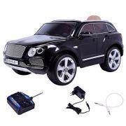 Carro Elétrico Bentley (Banco de Couro) com Controle Remoto Preto III - Belfix