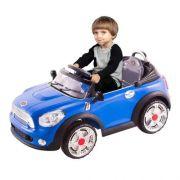 Carro Elétrico Infantil Mini Cooper Conversível Azul 6V - BelFix