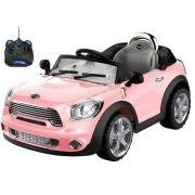 Carro Elétrico Infantil Mini Cooper Conversível Rosa 6V - BelFix