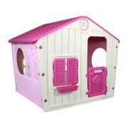 Casinha de Brinquedo Rosa - Belfix