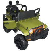 Jipe Elétrico Controle Remoto Verde 12v - Importway