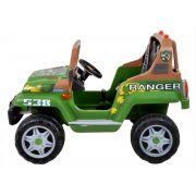 Jipe Elétrico Infantil Ranger 538 Verde 12v 2 Lugares - Peg-Pérego