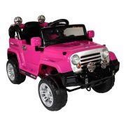 Jipe Trilha Infantil com Controle Remoto 12V Rosa - BelFix