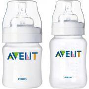 Kit 2 mamadeiras clássicas (Anticólica) 125ml e 260 ml - Avent