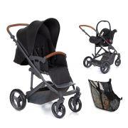 Kit Carrinho Merano + Bebê Conforto Risus + Shop Bag Woven Black - ABC Design
