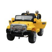 Mini Jipe Trilha com Controle Remoto Amarelo 12v - BelFix