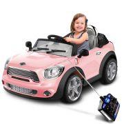 Mini Veículo Infantil Mini Cooper Conversível Rosa 6V - BelFix