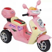 Moto Lambreta Elétrica Infantil 6v Rosa - Belfix