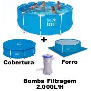 Piscina De Armação 10.000L (com Capa e Bomba Filtro 127v) - Bel Lazer