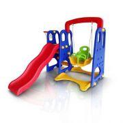 Playground Infantil 3x1 Escorregador Balanço e Cesta - Importway