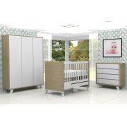 Quarto Infantil Imperial Sistema Touch Carvalho com Branco - Atual Móveis