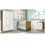 Quarto Infantil 100% MDF Twist 3 Portas Imbuia (Madeirado) - Tcil/Tililin