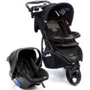 Travel System 3 Rodas Off Road com Bebê Conforto Onyx (Preto) - Infanti