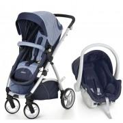 Travel System Maly com Bebê Conforto Azul Jeans - Dzieco