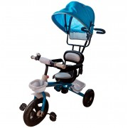 TRICICLO INFANTIL COM CAPOTA AZUL - IMPORTWAY