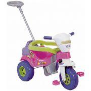 Triciclo Infantil Tico Tico Super Bichos com Aro Rosa - Magic Toys