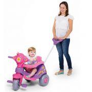 Triciclo Infantil Velocita 2 em 1 - Pedal e Passeio Lilás - Calesita