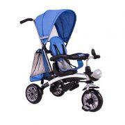Triciclo Multifuncional 3 em 1 (Empurrador-Triciclo-Bicicleta) Azul - Belfix
