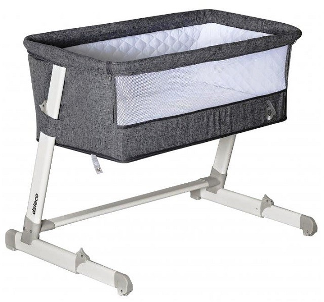 Berço Co-Sleeper Lettino Cinza - Dzieco