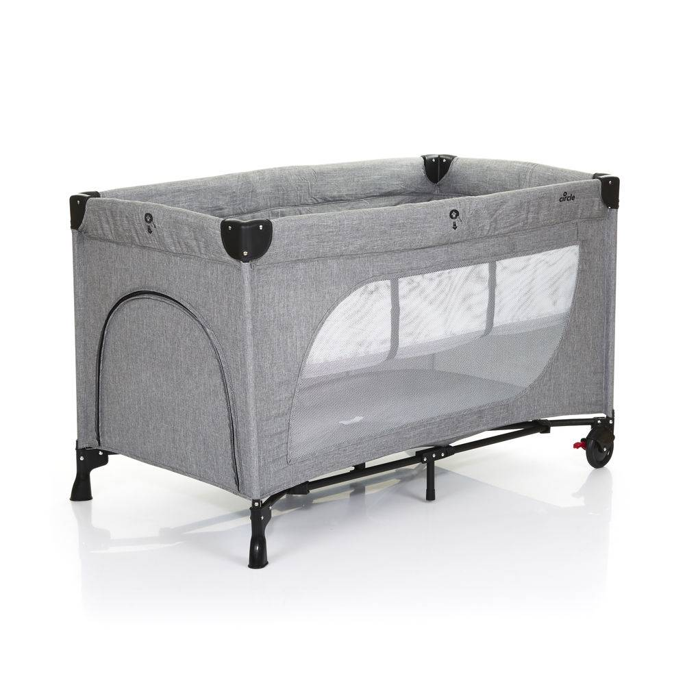 Berço Desmontável Moonlight Woven Grey (Cinza) - ABC Design