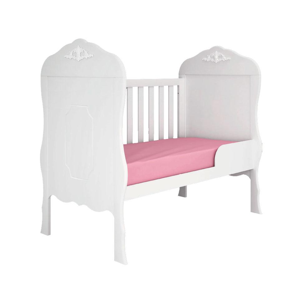 Berço Mini Cama Realeza Branco Fosco - Canaã