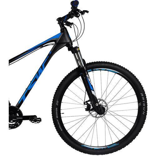 Bicicleta Aro 29 Tsw Hunter Mtb Trilha Alumínio Shimano 24v Preta Azul