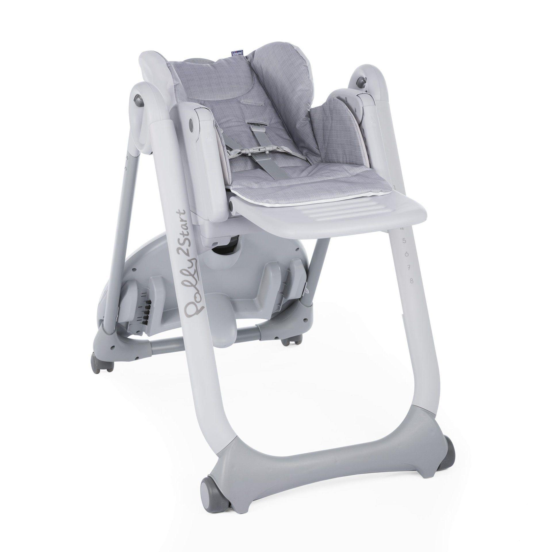 Cadeira Alimentação Polly2start Happy Silver - Chicco