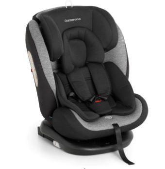 Cadeira para auto Gaia 360º - Isofix de 0 A 36 Kg - Preto / Cinza - Galzerano