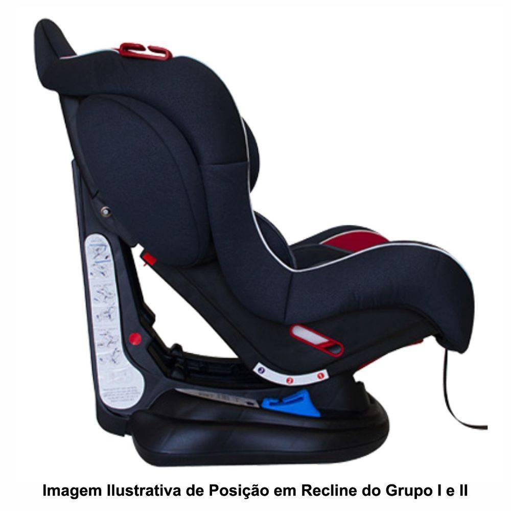 Cadeira Para Auto Transbaby Grafite com Vemelho - Galzerano