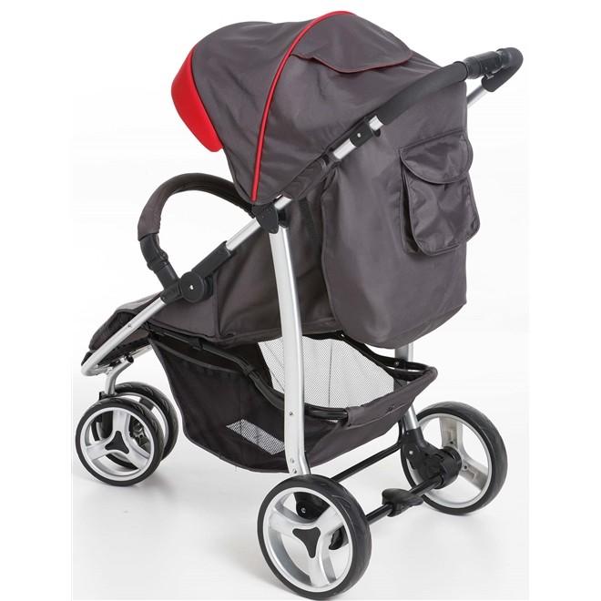 Carrinho 3 Rodas + Bebê Conforto Apollo Vermelho - Galzerano