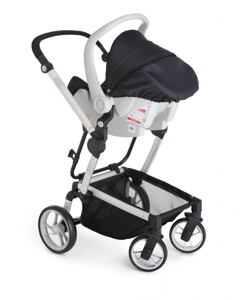 Carrinho com Bebê Conforto Zolly Preto - Dzieco