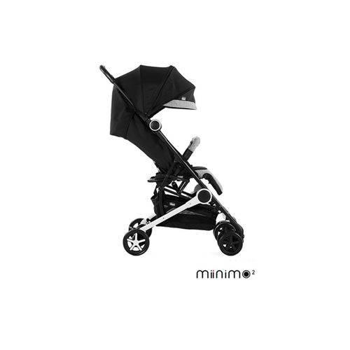 Carrinho com Bebê Miinimo Black Night (Preto com Cinza) - Chicco