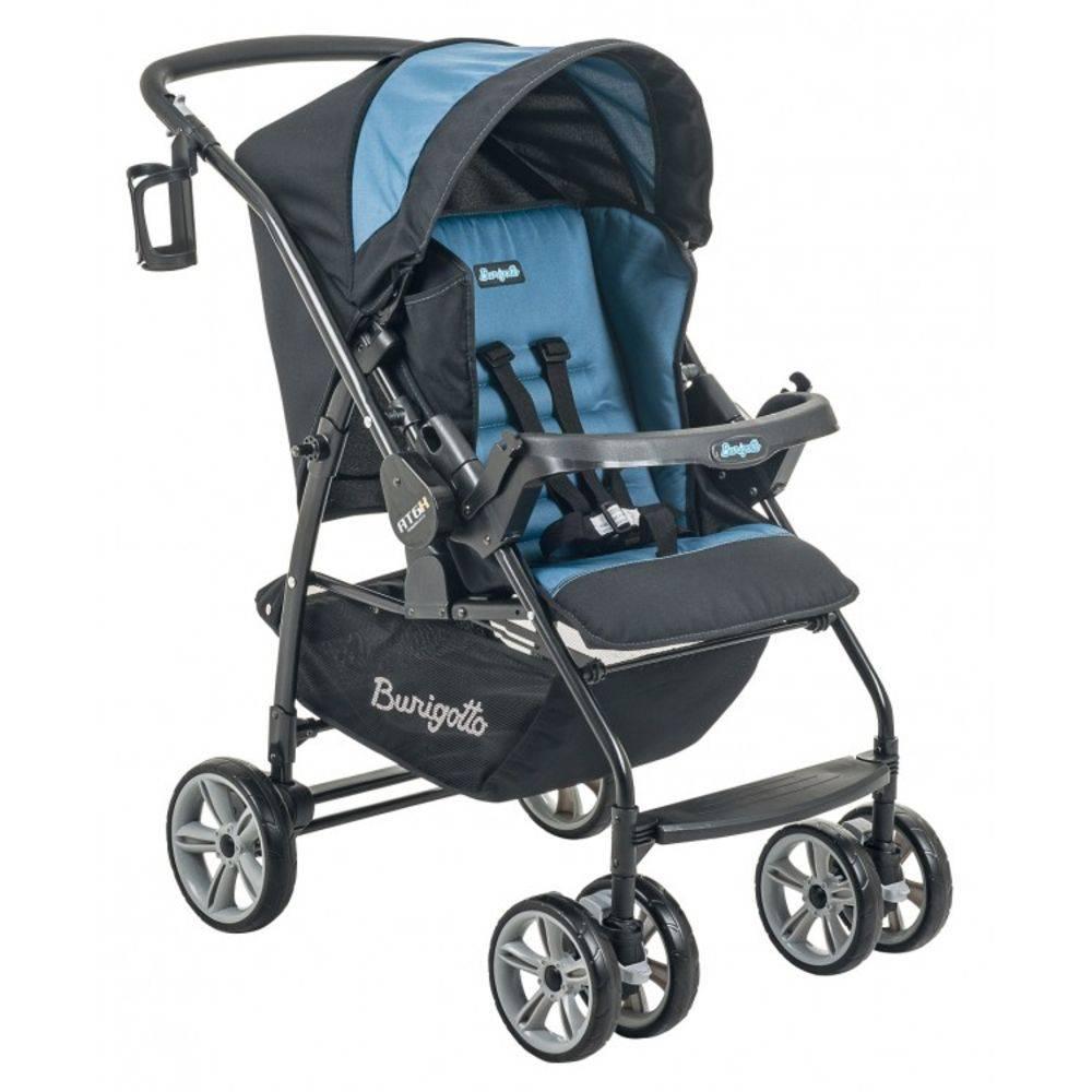 Carrinho de Bebê AT6 K com Cadeira Touring SE + Base Preto com Azul - Burigotto