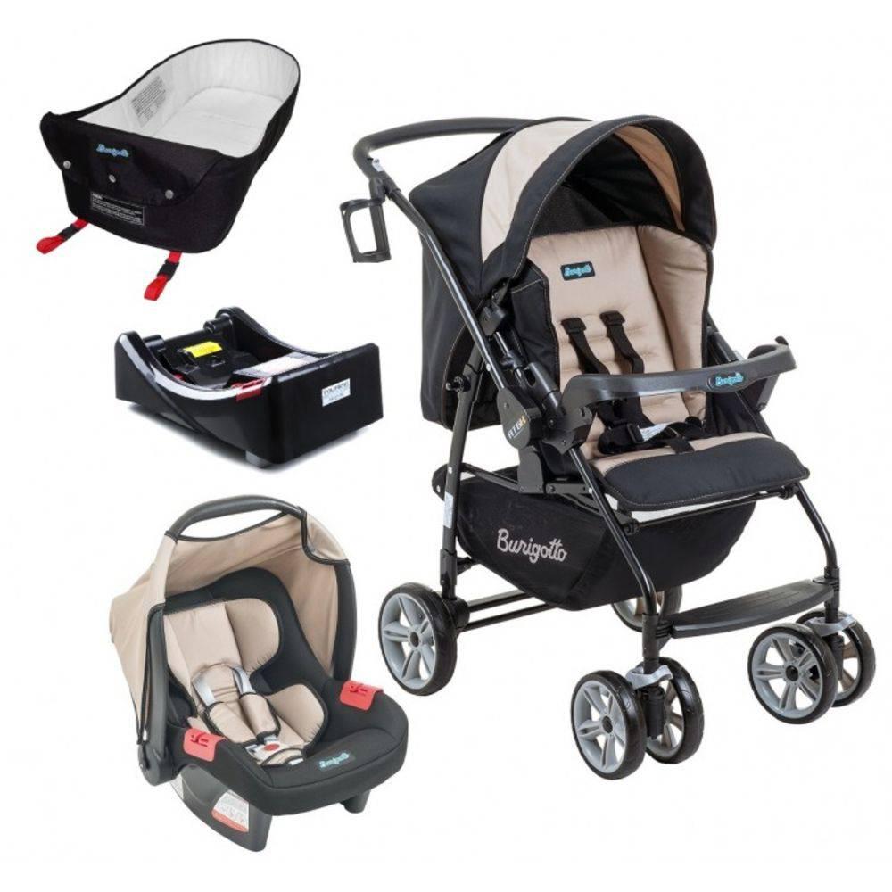Carrinho de Bebê AT6 K com Cadeira Touring SE Bege + Base + Ninho Pramete - Burigotto