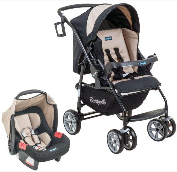 Carrinho de Bebê AT6 K com Cadeira Touring SE Bege - Burigotto