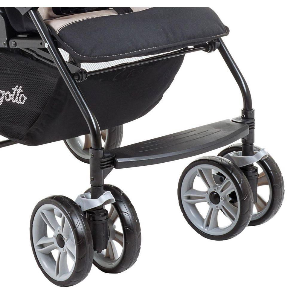 Carrinho de Bebê AT6 K com Cadeira Touring SE Preto com Rosa + Base + Ninho - Burigotto