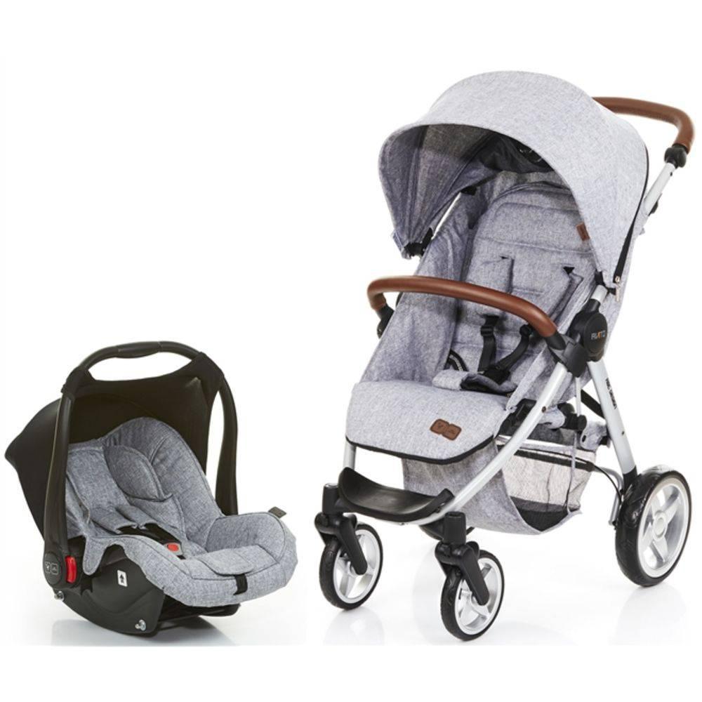 Carrinho De Bebê Avito Graphite Gray com Bebê Conforto - Abc Design
